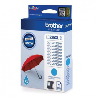 Brother LC-225-XL (LC225XLC) - tusz, cyan (cyan)