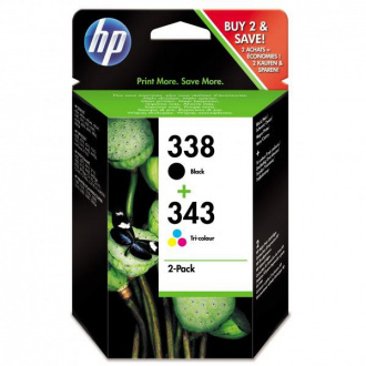 HP 338 + 343 (SD449EE) - tusz, black + color (czarny + kolor) 2szt